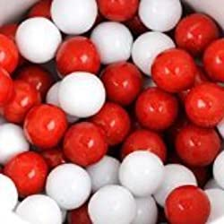 Sweetworks Red and White Sixlets 1 lb Bag