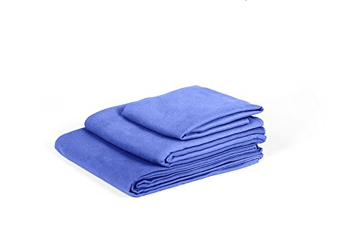 MyQuest Microfiber Towel, Small 16x32in Facial Size With Case - Premium Grade For Sports, Yoga, Hiking, Travel - Hassle Free - Dark Blue