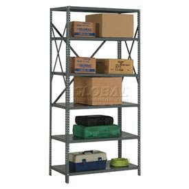 "Steel Shelving 20 Ga 36""Wx24""Dx85""H Open Clip Style 6 Shelf; [ Each Package Contains 1 ]"