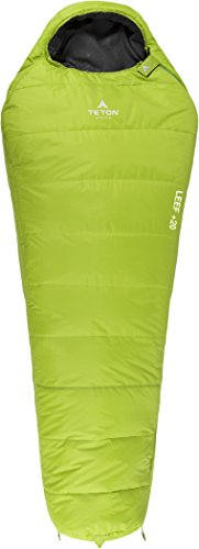 TETON Sports LEEF Ultralight Mummy Sleeping Bag; Free Compression Sack Included