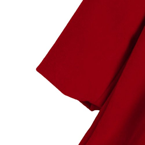 TiTCool Toddler Baby Girls Autumn Winter Cloak Jacket Bow Overcoat Thick Warm Clothes (4T, Red) by TiTCool (Image #4)