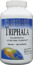 Triphala Internal Cleanser 500 mg Planetary Herbals 180 Caps (Triphala Internal Cleanser)
