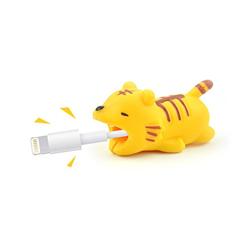 - The Original Cable Capper (Tiger) | Adorable Animal Bite Cable Protector Cable Bite Chomper Protector Accessory Cable Buddies | Compatible with iPhone Cables and Charger Lion King