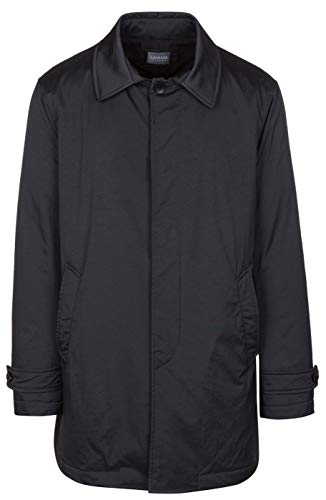 Armani Collezioni Men's Dark Gray Insulated Water Repellent Trench Coat Jacket, Gray, EU 54 / US XL