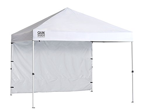 Quik Shade Commercial 10 x 10 ft. Straight Leg Canopy, White (Best Pop Up Shade Canopy)