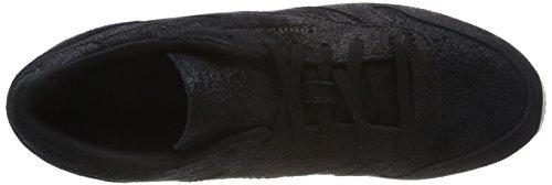Leather Classic Reebok Blackchalk Noir Baskets Shimmer R8wxfzq4S