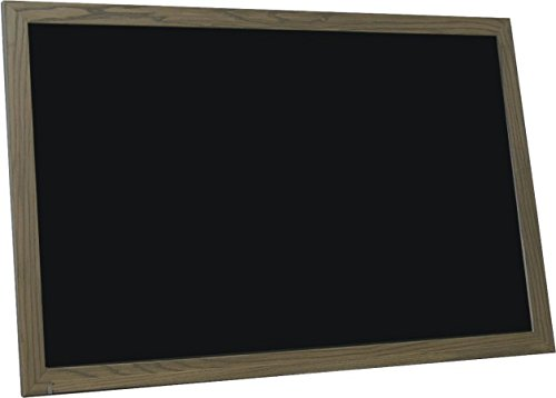 billyBoards 24x48 chalkboard. Rustic brown frame finish. School style. With chalk tray. Wood composite writing panel- black. 1.5'' wood frame.
