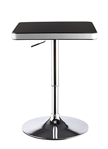 Duhome Contemporary Bar Table Swivel Height Adjustable Hydraulic Dining Living Room Kitchen Bistro Restaurant (Black) by Duhome Elegant Lifestyle