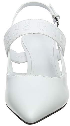 Scarpe Punta Back Bianco Tacco Col sling Kylin leather Guess Donna Chiusa RwqxZOPIR