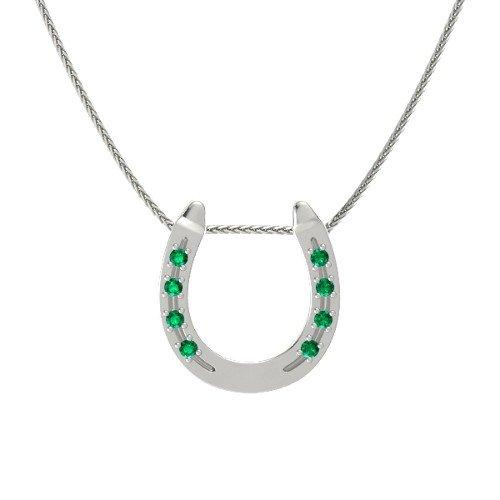 Platinum Necklace with Emerald â€