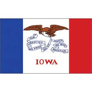 Iowa US State Flag: 3x5 foot poly