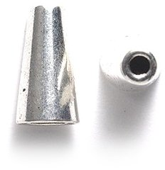 Shipwreck Beads Zinc Alloy Smooth Bead Cone/Cap, 8 by 15mm, Silver, (Silver Finish Bead Cap)