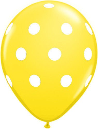 Yellow Polka Dot Balloons (10 Pack) - 12 Inch Inflatable Latex Balloons, Yellow Birthday Party Decorations, Polka Dot Yellow Wedding Supplies