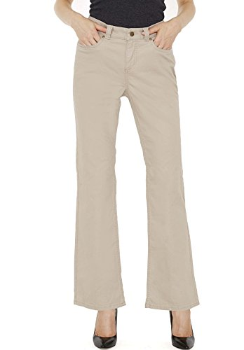Croft & Barrow Taupe Straight Leg Woman's Pants – Soft Stretch Dress Trousers With Slimming Control Top – Size 18 – by (Inc Dress Pants)