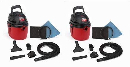 Shop-Vac 2030100 1.5-Gallon 2.0 Peak HP Wet Dry Vacuum, Small, Red/Black (2-(Pack)) Review