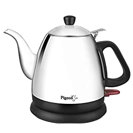 Pigeon by Stovekraft Swell Electric Kettle with Stainless Steel Body, 0.7 Litre Boiler for Water, Instant Noodles, Soup…