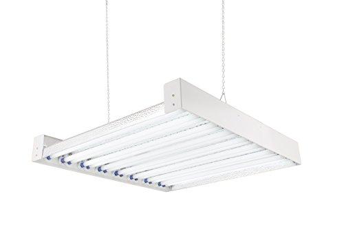 T5 HO Steel Grow Light - 2 FT 16 Bulbs - DL8216ST Fluorescent Hydroponic Indoor Fixture Bloom Veg Daisy Chain with Bulbs