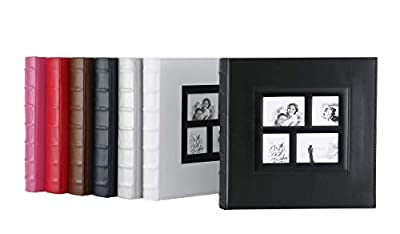 Artmag Photo Album 4x6 Photos, Large Capacity Wedding Family Leather Cover Picture Albums Holds Horizontal and Vertical 4x6 Photos with Black Pages