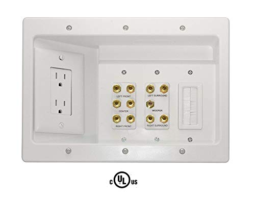 Legrand - ONQ / Legrand HT2103WHV1 Home Theater Connection Kit - Outlet Wiring Electric