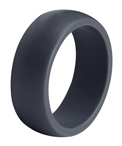 Utopia Fitness Silicone Wedding Ring Men (Single) - Sturdily Constructed, Comfortable, Light-Weight Design – Hypoallergenic Antibacterial Silicone Wedding Band Active Men, Athletes