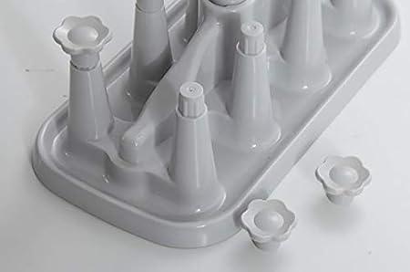 Benrise creative Home plastica di scarico portabicchieri water mug scolapiatti supporto acqua tazza capovolta Storage rack e vetro Cup Holder asciugatura drenante essiccazione organizer Storage