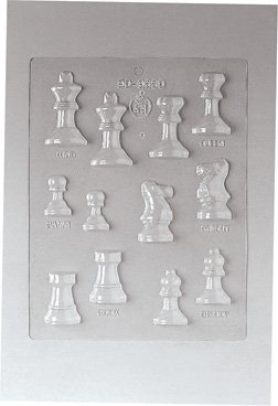 Paderno World Cuisine 12 Imprint Polypropylene 2 Inch Chess Game Chocolate Mold ()