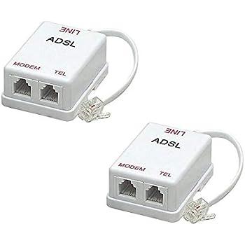 Awe Inspiring Amazon Com Imbaprice Pack Of 2 In Line Dsl Splitter W Noise Wiring Digital Resources Operpmognl