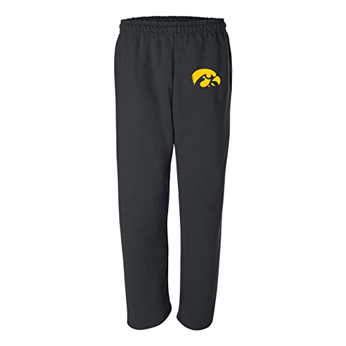 (AB02 - Iowa Hawkeyes Primary Logo Sweatpants - Large - Black )