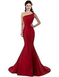 Color E Dress Design Brief Elegant Mermaid One-Shoulder Evening Dress