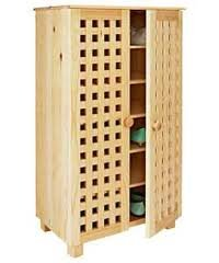 Shoe Storage Cabinet LARGE Solid Pine Shoe Tidy Wooden 5 TIER ...