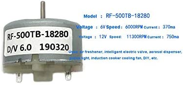 F-MINGNIAN-TOOL Taglia : RF 500TB 12560 1pc RF500TB12560 14415 18280 CC Motor Attenzione Luce Motore Bagnate umidificatore 3V6V12V Micro Motore