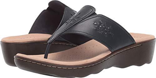 CLARKS Women's Phebe Mist Flip-Flop Navy Leather 060 M US