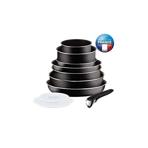 TEFAL INGENIO ESSENTIAL Batterie de cuisine 10 pieces L2008802 16-20-24-26-28cm Tous feux sauf induction