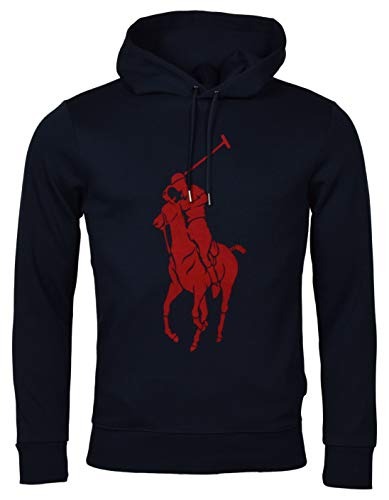 POLO RALPH LAUREN Men's Double-Knit Big Pony Graphic Logo Hoodie