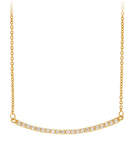 gorjana Gold Plated Taner Pave Bar  Necklace (Necklace Yochi Silver)