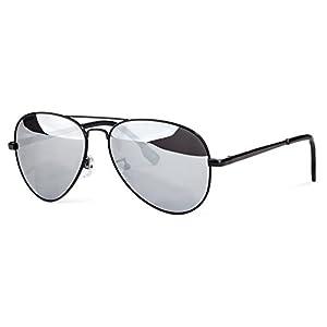 Mens Sunglasses Aviator, Polarized, Anti - UV, Metal Frame, Driving Fishing Mirrored Lens Sun Glasses