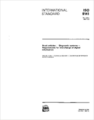 Book ISO 9141:1989, Road vehicles - Diagnostic systems - Requirements for interchange of digital information