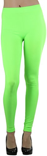 ToBeInStyle Women's Seamless Ankle Length Leggings - N Lime - One Size Regular