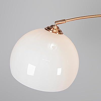 QAZQA Moderno Lámpara de arco moderna cobre pantalla blanca - ARC ...