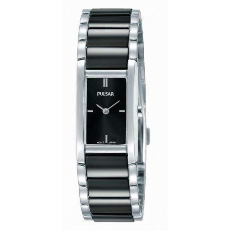 Pulsar pj5413 X 1 Horloge Dames - Zilver en zwart - edelstaal: Amazon.es: Relojes