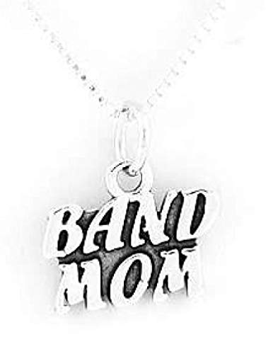 (Sterling Silver Band MOM Charm with 16 INCH Box Chain Necklace Jewelry Making Supply Pendant Bracelet DIY Crafting by Wholesale Charms)