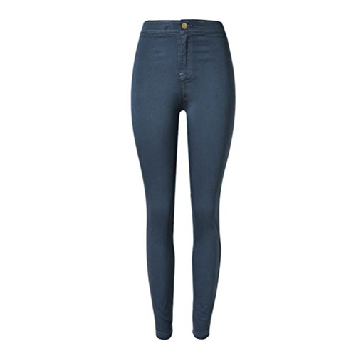 For Denim High Stretch Alta Slim Popular Hole Womens Fit Street Qualità Pants Personality Zhhlaixing Waisted Feet Blue Jeans Retro YqaX8