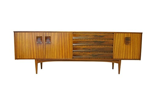 Mid Century Modern Rosewood and teak large Credenza, Media Console or TV Stand by EON - Teak Tv Cabinet