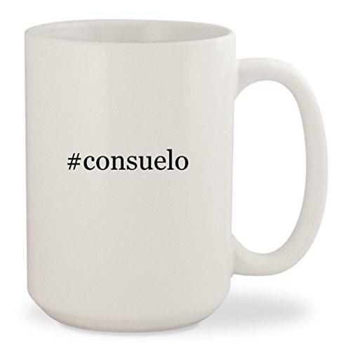 #consuelo - White Hashtag 15oz Ceramic Coffee Mug Cup