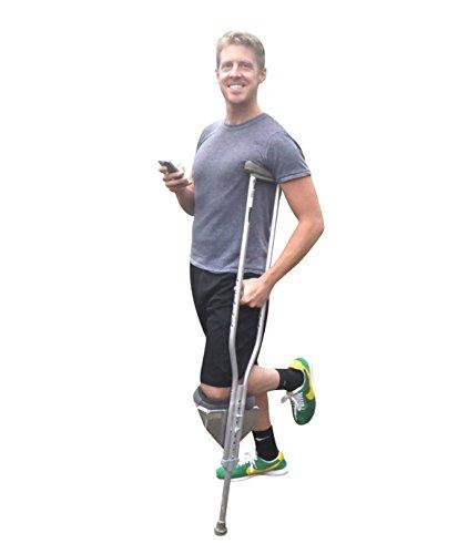 Freedom Crutch - Padded Knee Rest, Attaches to Standard Crutches (Crutch Platform Attachment)