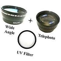 Wide Lens + Tele + UV for Samsung HMX-H205, Samsung HMX-H205RN, Samsung HMX-H220, Samsung HMX-H220BN H220SN