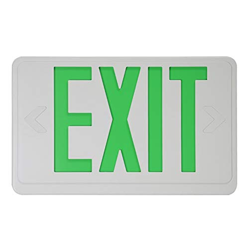 Green Letters Exit Sign - Emergency Lamp Electric Exit Sign with Battery Backup Light Letter Led Indicator(Green)