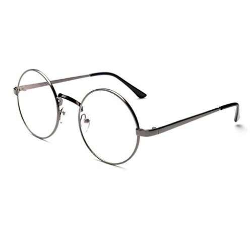 TOOPOOT Clearance Deals Glasses,Unisex Clear Lens Sunglasses Metal Frame Mirror Rounded Eyewear - Sunglass Revo Repair