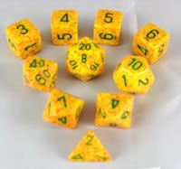 Lotus Elemental and Speckled Dice Set 10pc Set in Tube