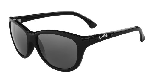 Bolle Women's Greta Sunglasses, Shiny Black Frame, True Neutral Smoke - Bolle Sunglasses Womens